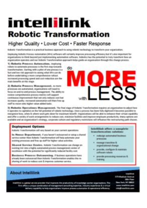 Robotic Transformation Brochure