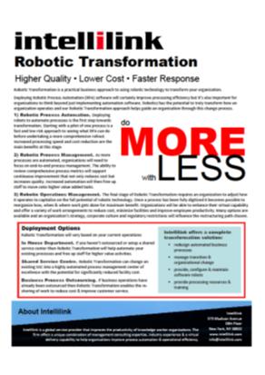 Robotic Transformation Brochure